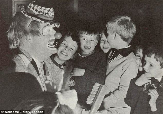 1967: A dental health campaign used a clown to entertain and educate children at a school in Tower Hamlets