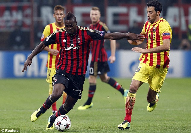 Talented: AC Milan's Mario Balotelli is among Europe's most naturally-talented players