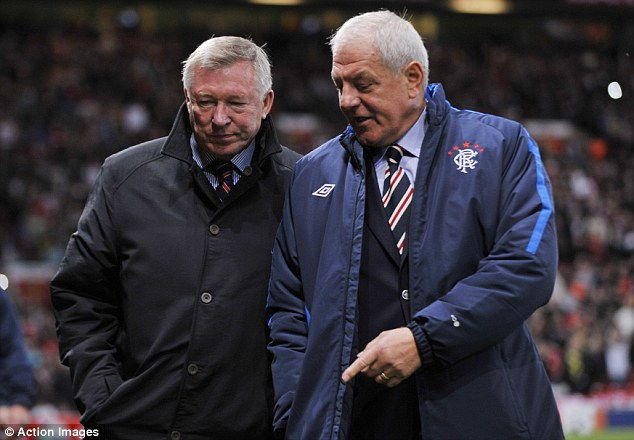Close friends: Alex Ferguson and Walter Smith have been friends for years