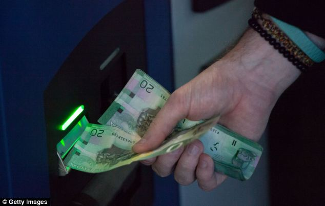 The ATM, named Robocoin, allows users to buy or sell the digital currency known as bitcoins