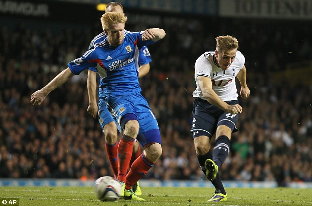 Kane and able! The Spurs youngster came off the bench to salvage Tottenham's Capital One Cup hopes