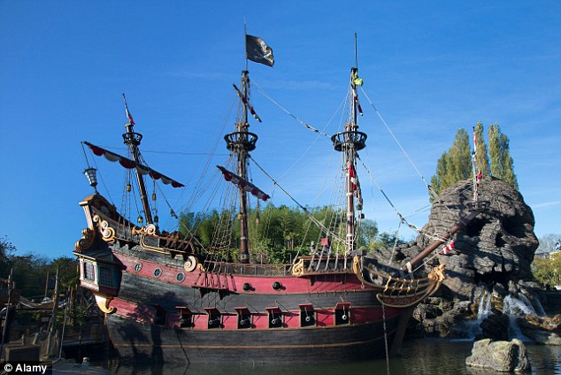 Incident: The boy had an accident on the Pirates of the Caribbean ride (file picture) at Disneyland Paris today