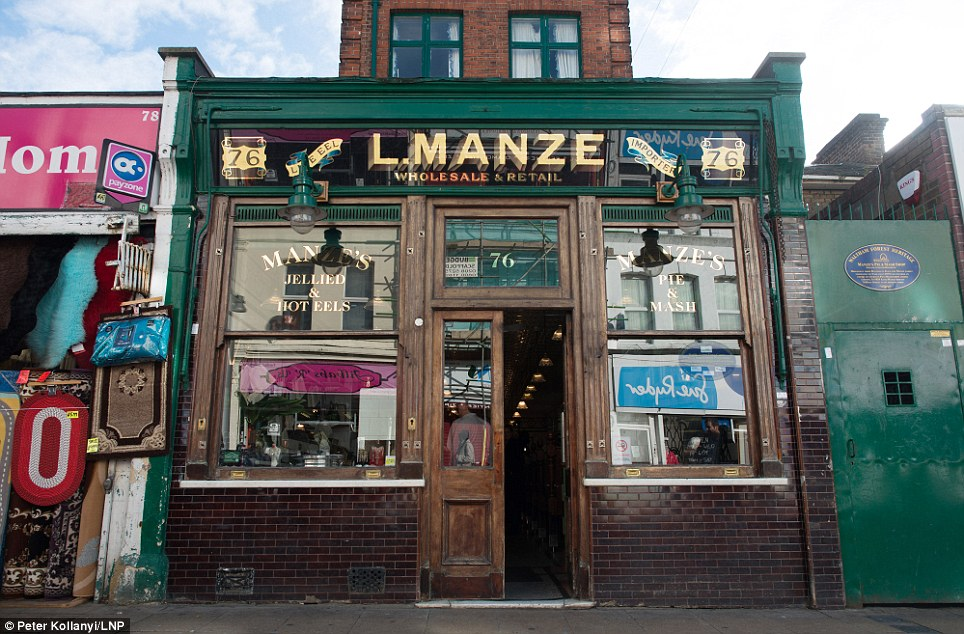 Historic: L. Manze, which first opened its doors in 1929, is the longest continuously open pie and mash shop in London. Heritage Minister Ed Vaizey, described it as' unique part of the capital¿s heritage'
