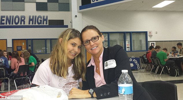 Shocked: Shea's mother, Keri Riddell (right) said that both she and her daughter know the suspected bully, and that the revelation literally made her sick to her stomach