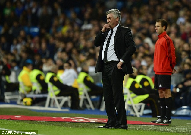 Plenty to ponder: Real Madrid manager Carlo Ancelotti will be concerned about his team's defending