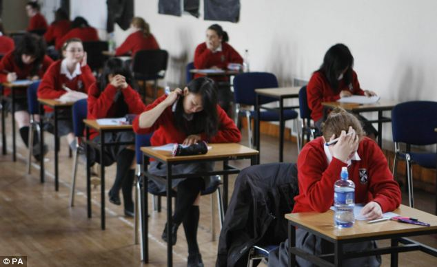 Abuse of the system? Nine out of 10 pupils who asked for 'special consideration' were granted it this summer (posed)