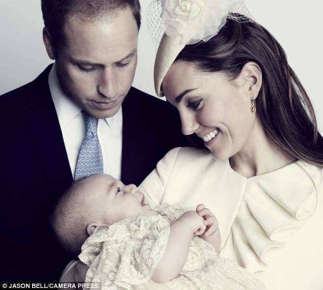 Tributes: David Cameron and Ed Miliband sent congratulations to William and Kate on the christening of George, to to horror of Labour politician Tom Copley