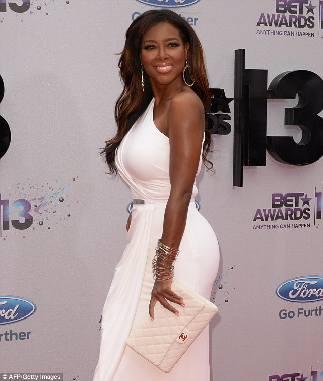 Stars collide: Kenya Moore, shown in June in Los Angeles, told Access Hollywood on Tuesday about her encounter a few years ago with Kanye West
