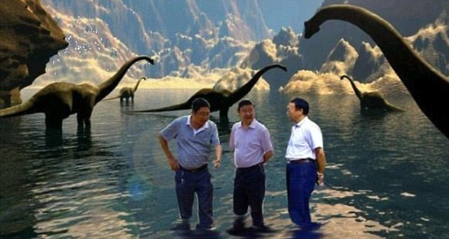 Spoof: A number of viral pictures have appeared around the world showing the three Chinese officials in various locations