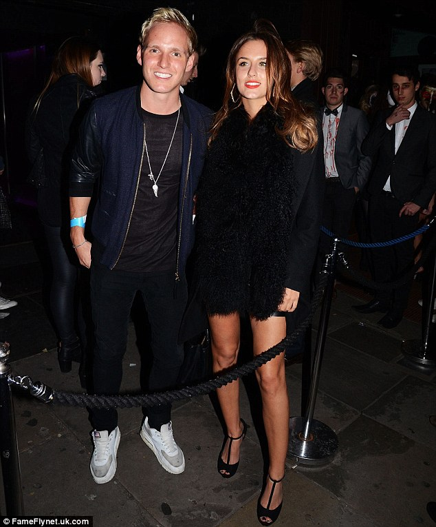 Cute couple: While Lucy and Jamie hated each other for much of the last series of Made In Chelsea, Monday night's episode saw it emerge that they had slept together