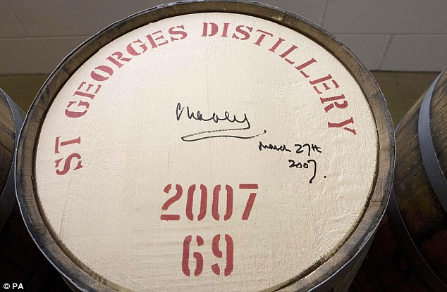 The spirit is made for M&S by The English Whisky Company, which now produces the equivalent of 150,000 bottles a year. Prince Charles signed one of the first batch barrels in 2007.