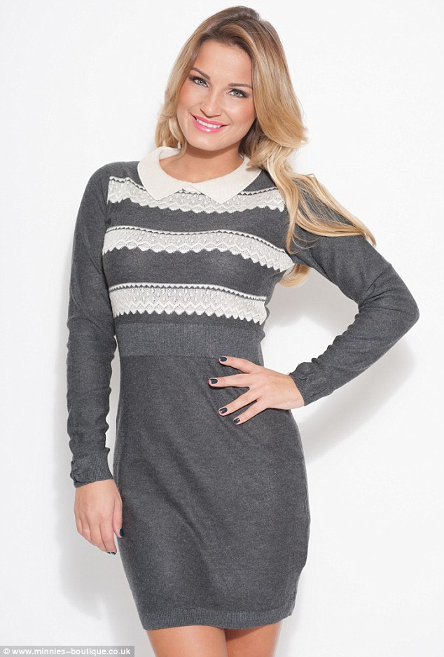 Entrepreneurs: The sisters have been running Minnies Boutique for two years now and are loving every minute (lacey sweater dress, £55)