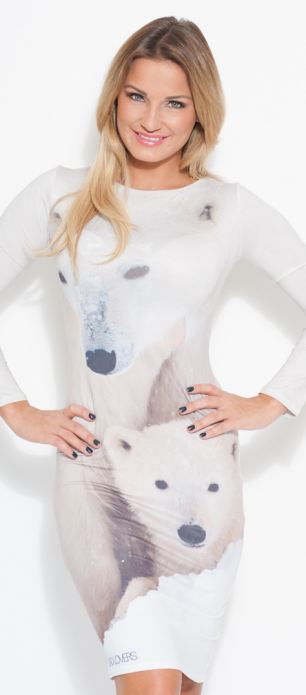 Exciting: The sisters say they can't wait for 2014 and have lots of exciting ventures on the go (Polar Dress, £49)