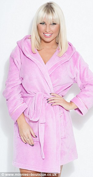 Exciting: The sisters say they can't wait for 2014 and have lots of exciting ventures on the go (L- Minnies Dressing Gown Pink, £39.99, R- Polar Dress, £49.00)