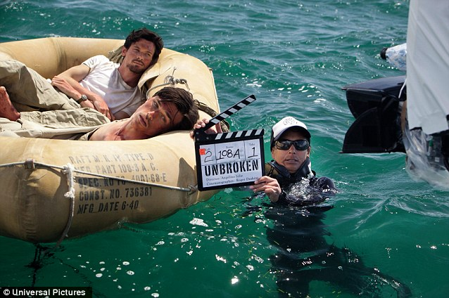 At sea: Jack O'Connell, Domhnall Gleeson and Finn Wittrock have been filming in Moreton Bay, Australia