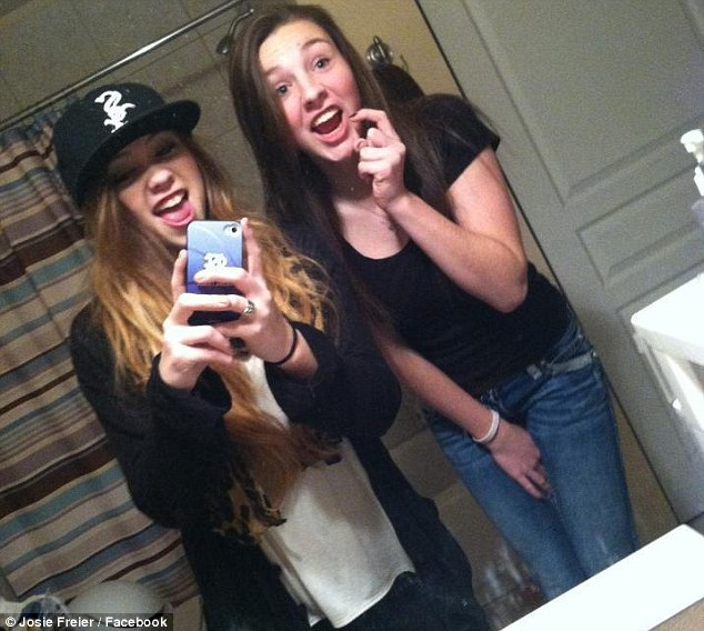 McKenzie Mott (left) and Josie Freier (right) were killed in a car crash while being driven by a teenage friend on October 5 in Spokane County, Washington