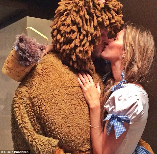 So sweet: The supermodel shared a snapshot on the night of the pair kissing