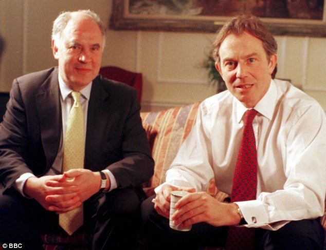 Political portraits: Michael Cockerell, portrayed interviewing Tony Blair, was accused of having an affair with Margaret Thatcher
