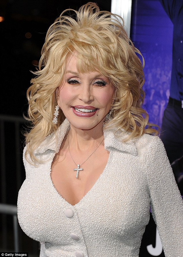 Inspiration: Dolly Parton appeared to be a popular celebrity to emulate, pictured in Hollywood in 2012