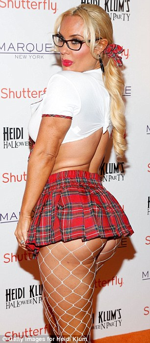 Subtle: It was difficult to tell if Coco Austin had hired a costume or just worn her casual day wear for the event