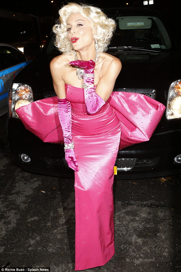 Diamonds are this girl's best friend: TV host Bethenny Frankel shimmered in pink satin as the legendary Marilyn Monroe