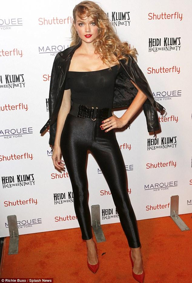 High school dream: Victoria's Secret model Lindsay Ellingson's heart was set on dressing up like Olivia Newton John as sexy Sandy in Grease