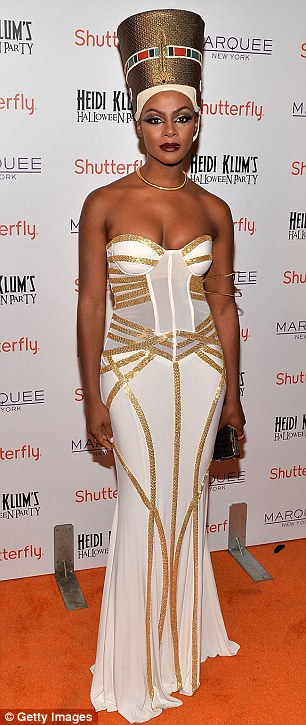 VIP guests: Tika Sumpter attends Heidi Klum's Halloween presented by Shutterfly at Marquee on Thursday