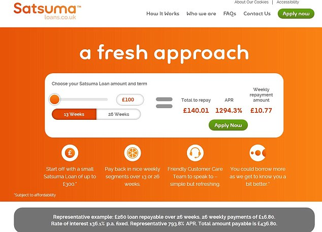 New product: Satsuma's website bears hallmarks of those exhibited by payday lenders.