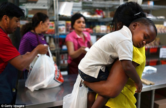 Hungry: Many anti-poverty groups have warned that cutting the program will leave millions of Americans vulnerable. The slash in the program also means less money for discount grocers, dollar stores and gas stations that rely on low-income shoppers