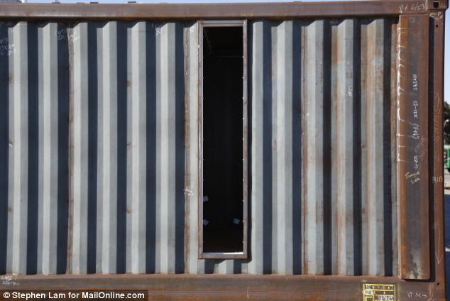 Let there be light: Every container has the same intriguingly narrow window cut in