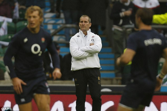 Building blocks: Stuart Lancaster played Billy Twelvetrees and Joel Tomkins in the absence of Brad Barritt and Manu Tuilagi