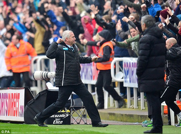 Bouncing back: Alan Pardew's team picked up their first win in three matches
