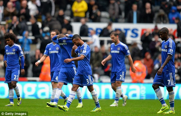 Disappointment: Chelsea's run of seven victories in a row came to an abrupt end