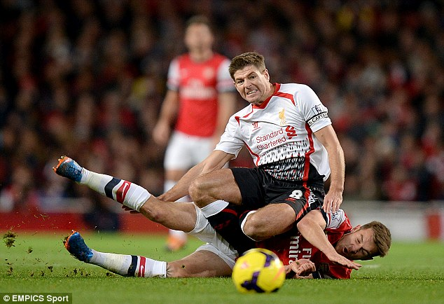 Battle of the Brits: Gerrard goes in hard on Ramsey