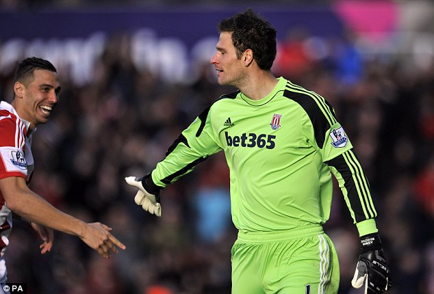 Bolt for the blue: Goalkeeper Asmir Begovic scored after just 13 seconds against Southampton