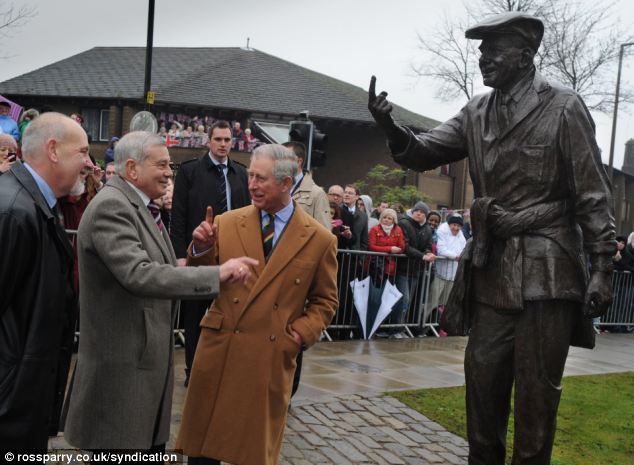 'You're off': Prince Charles delighted in trying out the iconic hand gesture when he visited with Mr Bird last year