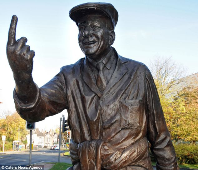 Confusion: The police were called to investigate after locals noticed the statue had gone when building started