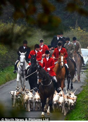 The Zetland Hunt sets off for the first event of the season