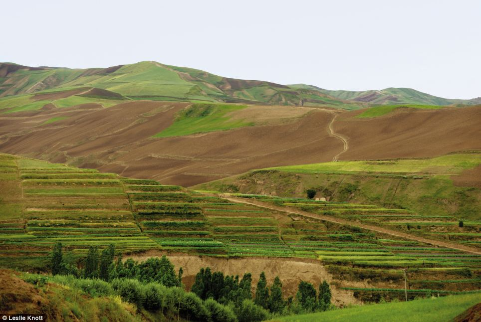 Rolling hills: The Afghanistan landscape is also shown in the exhibition