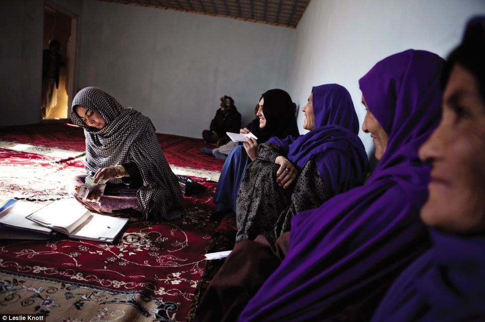 Savings Groups: The stunning pictures bring to life, in extraordinary detail, the resilience of the Afghan people