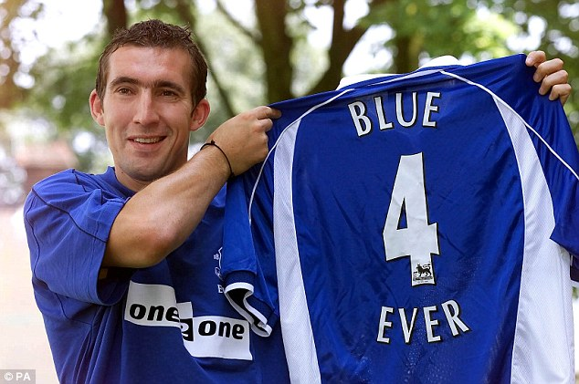 Signing on: Alan Stubbs joined Everton from Celtic in 2001