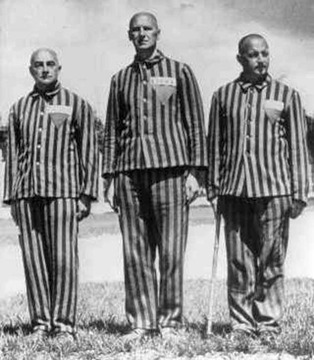 The striped pyjama-style concentration camp uniform was worn by death camp inmates