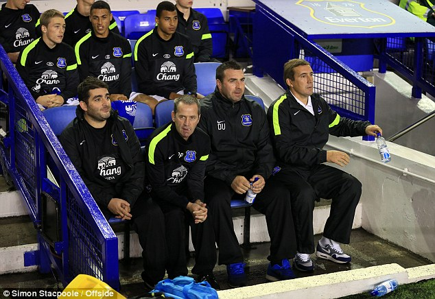 Next step: Stubbs is keen to be a manager and is learning the ropes as Everton U21 boss