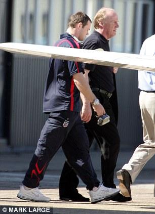 Confrontation: Wayne Rooney broke his metatarsal bone in 2006