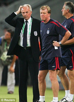 National service: Eriksson was in charge of England for five years but left after the 2006 World CupNational service: Eriksson was in charge of England for five years but left after the 2006 World Cup