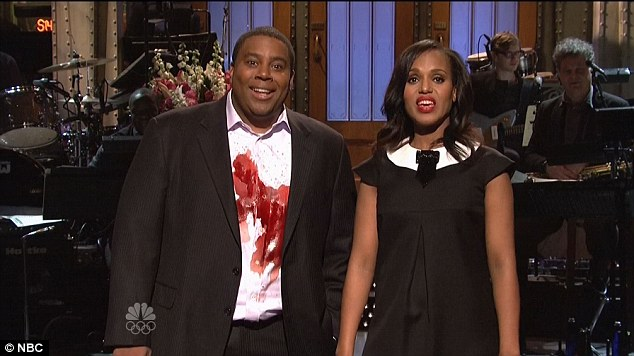 New material: Kerry and Kenan Thompson spoofed her show Scandal