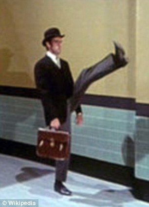 John Cleese plays the part of an unnamed civil servant who visits the Ministry of Silly Walks in a 1970 episode of Monty Python