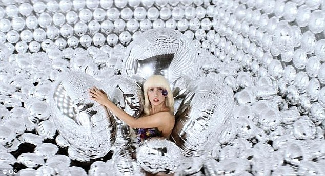 All blown up: Gaga has worked with O2 to bring the album to it's customers six days earlier