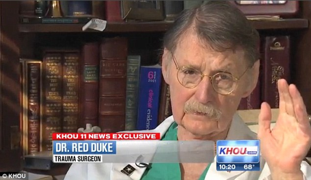 Moment in history: Dr Red Duke rarely speaks about the events of November 22, 1963, even though he was present with President Kennedy was admitted to hospital after being shot in Dallas