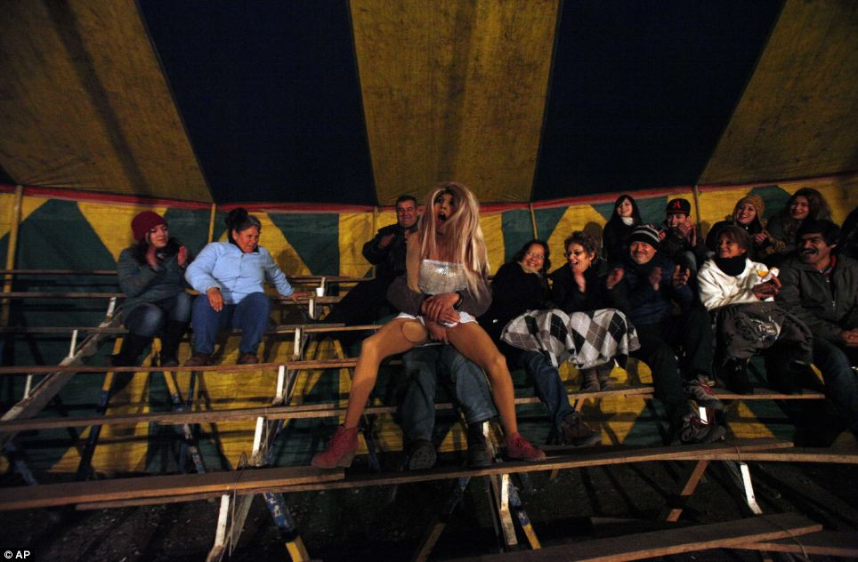Carnival: The lively show is one of many to pop up across South America as the transgender scene booms